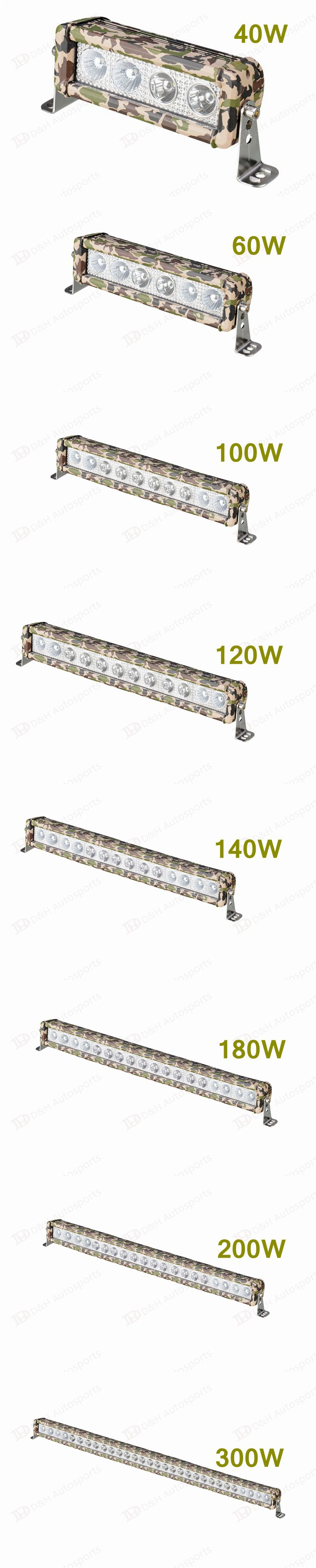 Camouflage Single row CREE Led Work Light Bar For Off-road